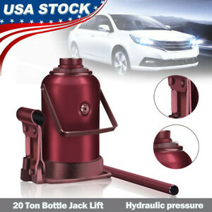 Low Profile Hydraulic Bottle Jack 20 Tons Automotive Shop Axle Jack Hoist Lift