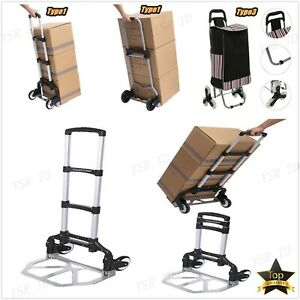 Cart Folding Hand Truck Dolly Push Collapsible Trolley Luggage 66 150 220lbs Lot