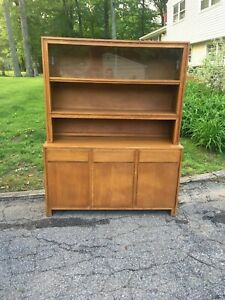Conant Ball Buffet Server Hutch Blonde 50 S Mid Century Modern Russel Wright