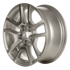 New 17x8 Alloy Wheel 10 Spokes Sparkle Silver With A Machined Face
