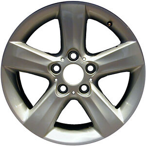 Remanufactured 17x8 Alloy Wheel 5 Spokes Bright Sparkle Silver Full Face Painted