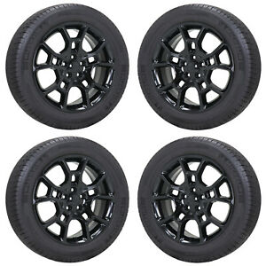 19 Dodge Charger Challenger Awd Gloss Black Wheels Tires Factory Oem Set 2544