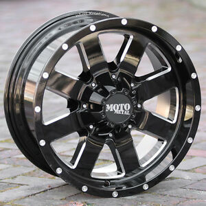 20x9 Black Wheels Moto Metal 962 1990 2019 Chevy Gmc 1500 Trucks 6x5 5 0mm
