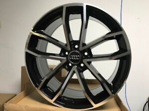 19 Black S5 Style Fan Blade Rims Wheels Fits Audi A3 A4 A5 A6 A7 A8 35mm Et