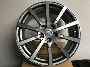 Set Of Four Brand New 19 Accord Hfp Style Gunmetal Machined Rims Wheels 5x114 3