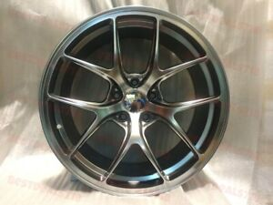Set Of Four 19 Staggered F Style Rims Wheels Hyper Black Rims Fits Honda