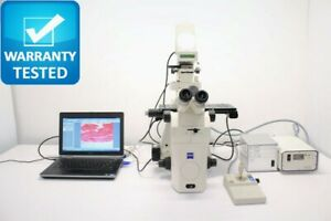 Zeiss Axiovert 200m Inverted Microscope Fluorescence Motorized Dic Polarization