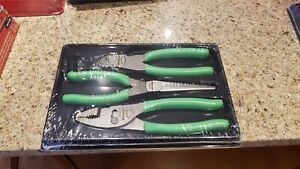 New Sealed Snap On Green Pliers Cutters Set Pl307acfg