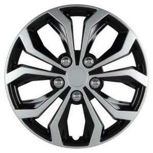 Pilot Wheel Covers Spyder Performance 15 Inch Black Silver Abs Plastic Set Of 4