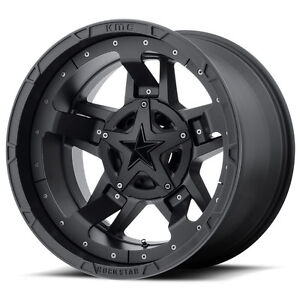 18x9 Black Wheels Xd827 Rockstar 3 1994 2019 Dodge Ram 2500 3500 Truck 8x6 5 0mm