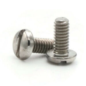 6 32 18 8 Stainless Steel Slotted Pan Head Machine Screws Select Length