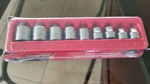 New Sealed Snap On Sae Low Profile Socket Set 1 4 3 4 209rf