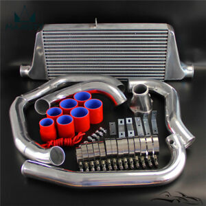 Single Turbo Front Mount Intercooler Kit For Mazda Rx7 Fc Fc3s 13b 86 91 Red