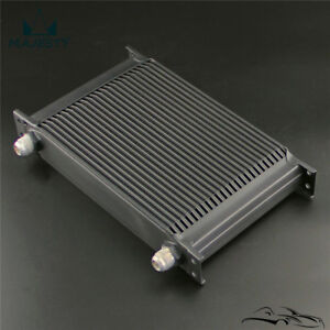 Universal 25 Row An10 Engine Transmission 248mm Oil Cooler Mocal Style Black