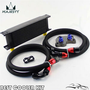 13 Row Engine Oil Cooler Kit For Bmw Mini Cooper S Supercharger R53 Black