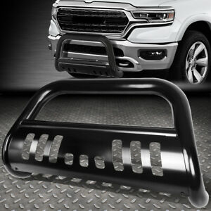 For 2019 Ram Truck 1500 Mlid Steel 3 Bull Bar Bumper Grille Push Brush Guard