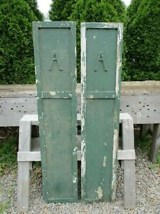 2 Vintage Wood Shutters W Letter A On Each 52 7 8 H X 10 7 8 She Shed