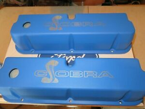 New Ford Racing 289 302 351w Cobra Aluminum Valve Covers Mustang Torino Cyclone