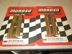 Vintage Nos New Moroso Gold Anodized Valve Cover Hold Downs T Bar
