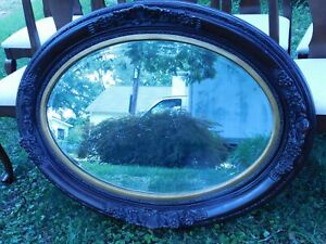 Victorian Carved Mahogany Beveled Mirror 47 W X 35 H X 3 5 D