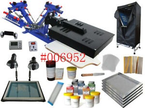 Best Quality 3 Color 1 Station Screen Printing Starter Full Kit Printing Device