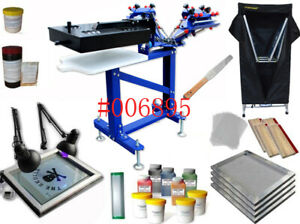 Us Shipping Full Set Screen Printing Press Dryer Printing Kit 3 1 Type 006895