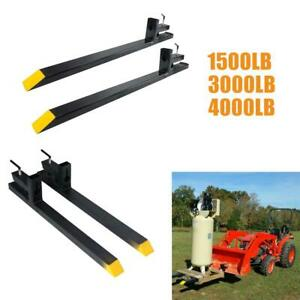 1500lb 3000lb 4000lb Clamp On Pallet Forks Loader Bucket Skidsteer Tractor Chain