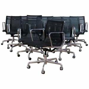 Set Of 10 Eames For Herman Miller Office Chairs