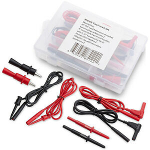 Wgge Wg 012 Electronic Test Lead Kit With Insulation Alligator Clips multimeters