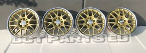 4 Oem Bbs Rx502 8x17 Et35 Mercedes Audi Vw Golf Polish Gold
