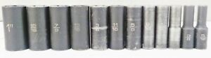 Matco 12 Pc Sae Bdp Series 3 8 Drive 6 Pt Deep Well Socket Set Vg Condition