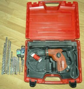 Hilti Te 7 Coreded Rotary Hammer Drill With 13 Bits And Case
