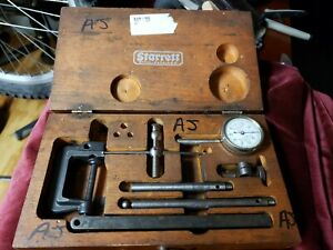 Starrett Dial Indicator Set 196 In Original Wood Case