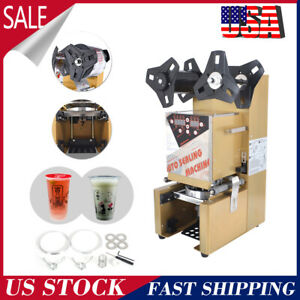 Electric Automatic Bubble Cup Sealing Machine Sealing Machine350w 300 Cup H