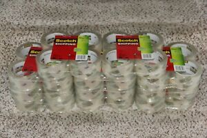 44 Rolls 3m Scotch Sure Start Shipping Packing Tape 1 88 X 43 7 Yard Clear New