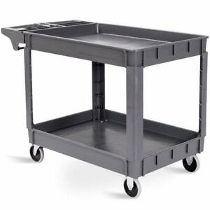 Goplus Plastic Service Cart Utility Storage Cart For All Purpose 550 Lbs