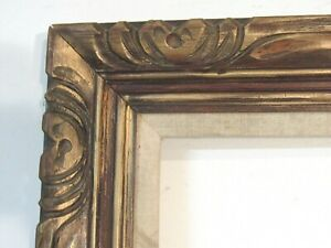 Antique Hand Carved Gilded Wood Frame For Painting 24 X 12