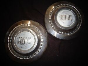 1955 1956 1957 Pontiac Catalina Star Chief Poverty Hubcaps Dog Dish Wheel Covers
