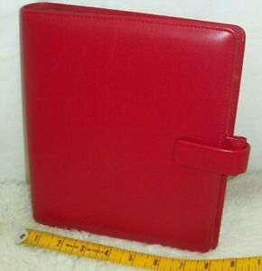 Filofax A5 Metropol Organizer Daily Planner Business Notebook Red Faux Leather