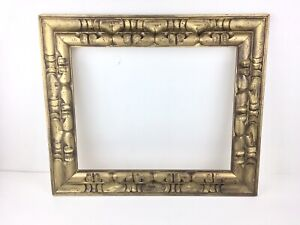 Vintage Large Gold Carved Wood Beautiful Picture Frame 21 X 25 Made In Mexico
