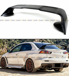 For 2008 17 Mitsubishi Lancer Evo 10 X Style Primer Blk Rear Trunk Spoiler Wing
