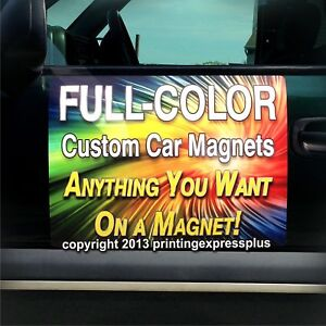 2 12x24 Custom Car Magnets Magnetic Auto Truck Signs Free Design Included