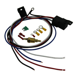Universal Cooling Engine Thermostat Wiring Sets Fan Temperature Switch Relay Kit