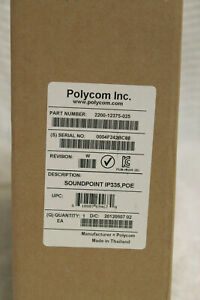Polycom 2200 12375 025 Soundpoint Ip 335 Voip Phone New