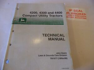 John Deere 4200 4300 4400 Compact Tractor Technical Manual