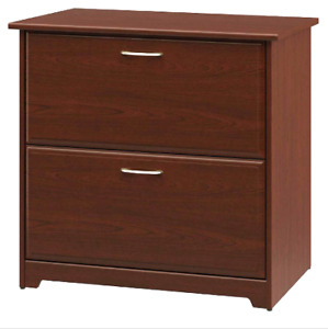 Two Drawer Lateral File Cabinet Cherry Wood Finish Legal letter Size Files