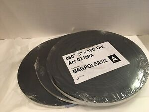 Lot Of 3 Magnetic Rolls 1 2 X 1000 Feet Each Strip Roll Strong Self Adhesive