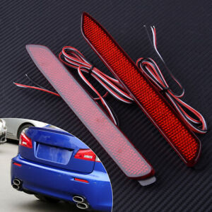 2pcs Led Light Rear Warning Bumper Light Brake Stop Light Fit For Toyota Camry