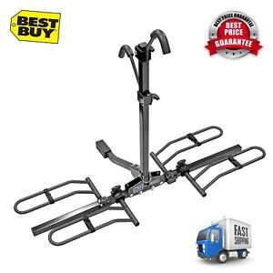 Hitch Tray Bike Big Fat Tire Rack Mount Trailer Suv Tray Style Universal Carrier