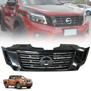 For Nissan Navara Np300 14 19 Front Bumper Grill Grille Gloss Black Edition